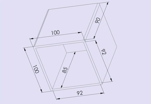 Trafohaube 100x90 mm, Technische Daten