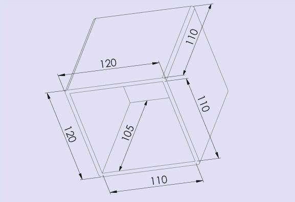 Trafohaube 120x110 mm, Technische Daten