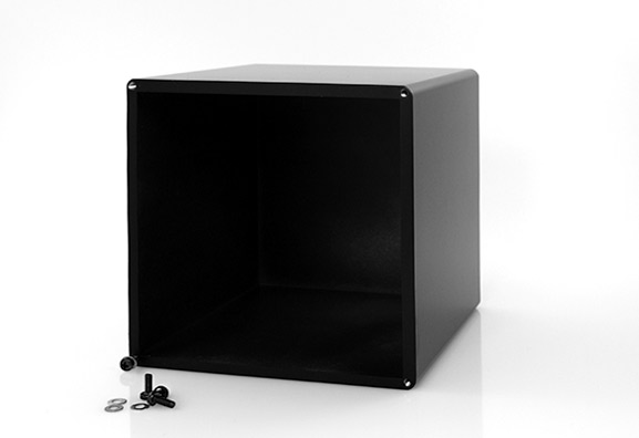 Transformer cover 120x130 mm for tubes amps, bottom view